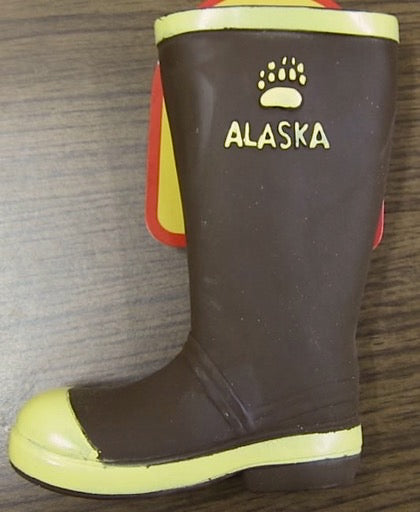 Rubber Boot Alaska Squeaky Dog Toy