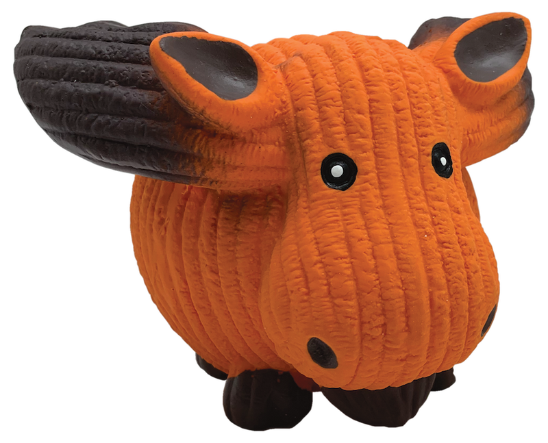 Orange Moose Ball Dog Toy