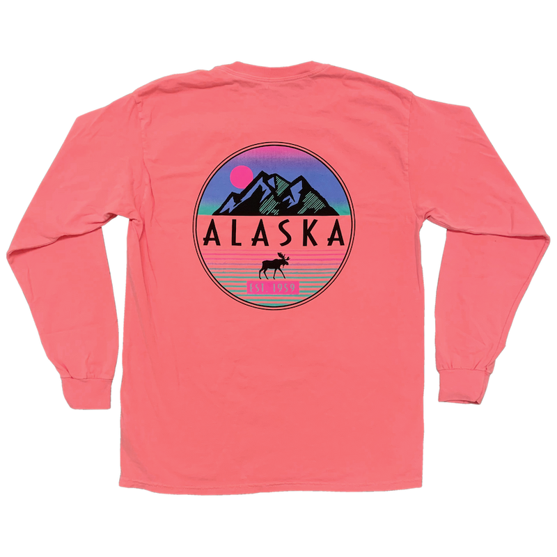 Moose & Mountains Alaska Long-sleeve T-shirt