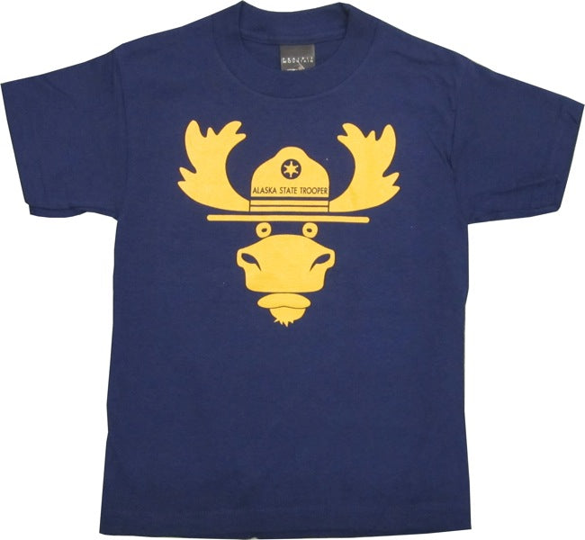 Alaska State Trooper Moose Kid's T-shirt