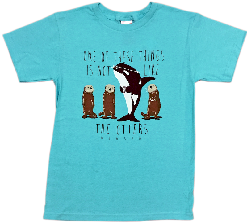 One of These Things Alaska Otter Kids T-shirt