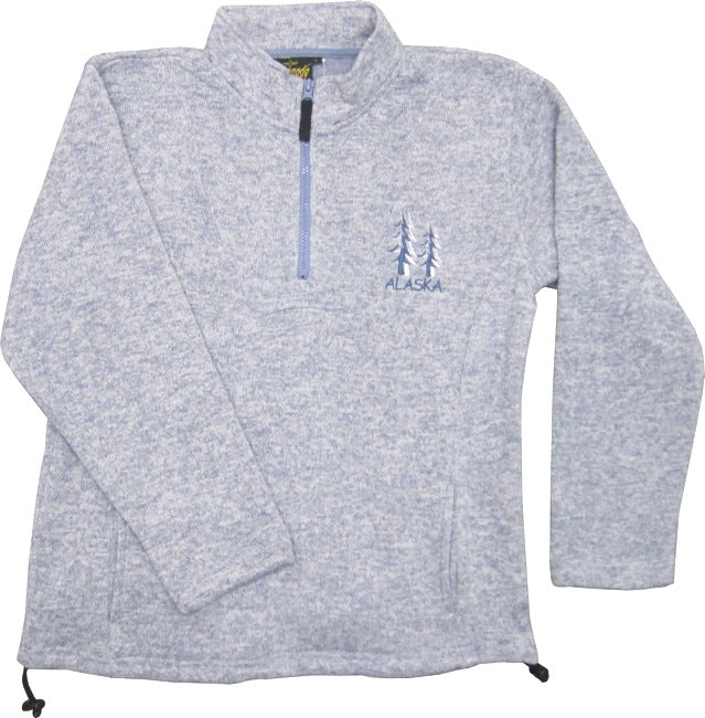 Trees Alaska Ladies Quarter-Zip Sweatshirt
