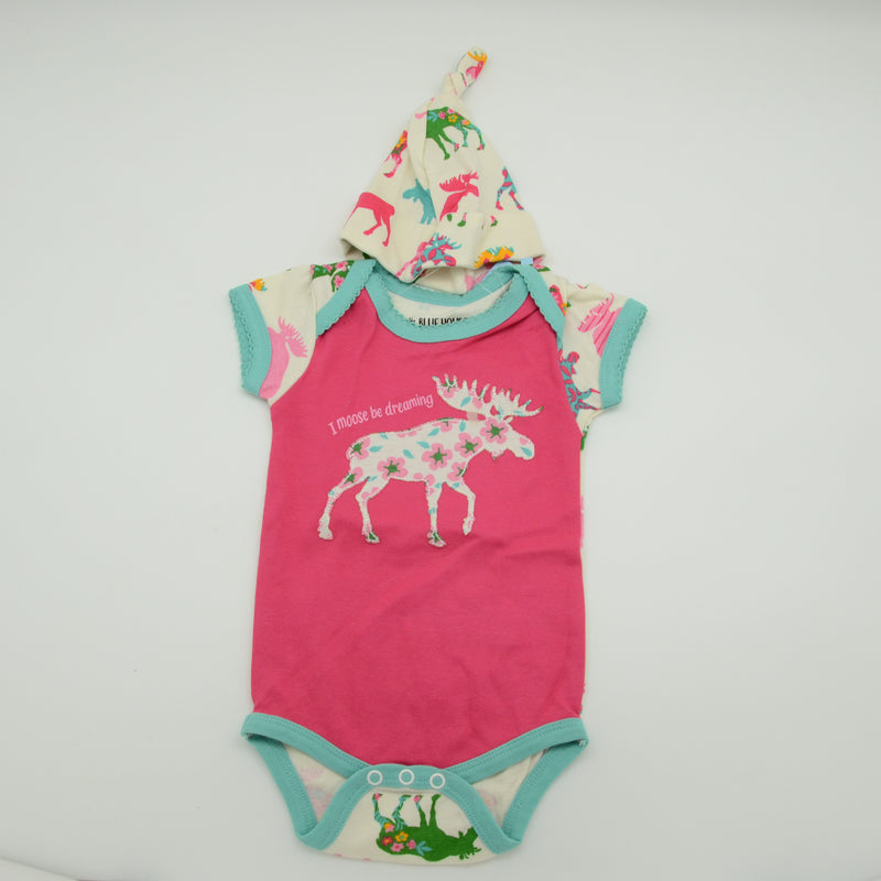 I Moose Be Dreaming Alaska Onesie with Hat
