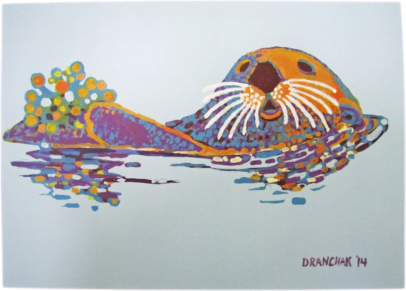 Sea Otter Card by Sue Dranchak