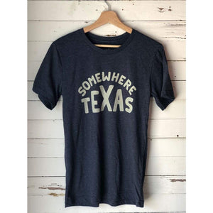 Open image in slideshow, Shop Shirt | somewhere Texas | Ballad of the Bird Dog - Heather Navy / Small - Apparel - Apparel - best Texas Shirt - Carra Sykes - Heather