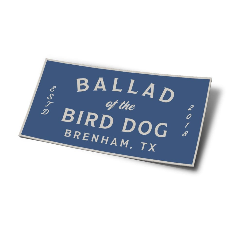 Shop Sticker | Square Logo | Ballad of the Bird Dog - Stickers - Ballad of the Bird Dog - Botbd Goods - Large - Shop Gear - Shop Logo