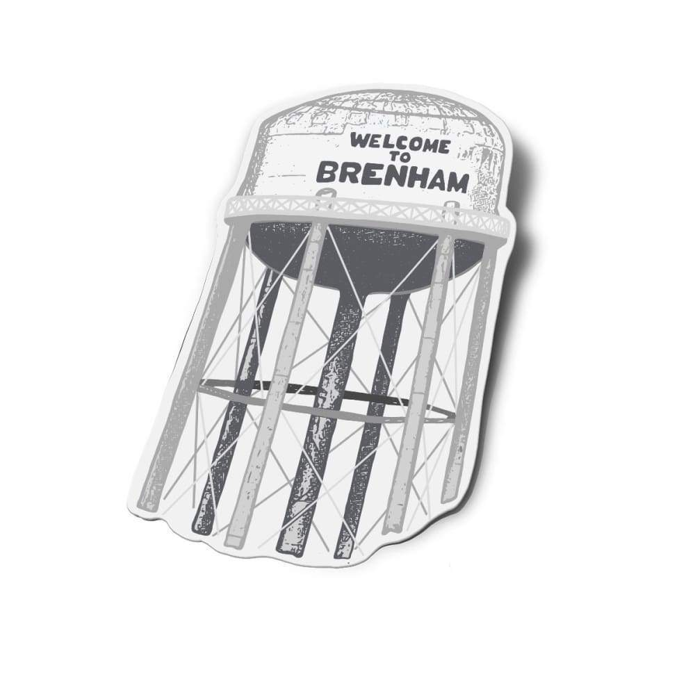 Welcome to Brenham | Water Tower Custom Design | Anvil Cards - Stickers - Anvil - Ballad of the Bird Dog - Shop Gear - Sticker - Stickers