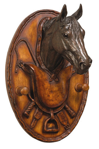 Equestrian Coat Hook Plaque