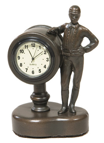 Jockey Desk Clock