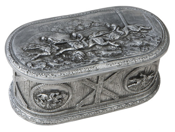 Detailed Horse Scene Lidded Box
