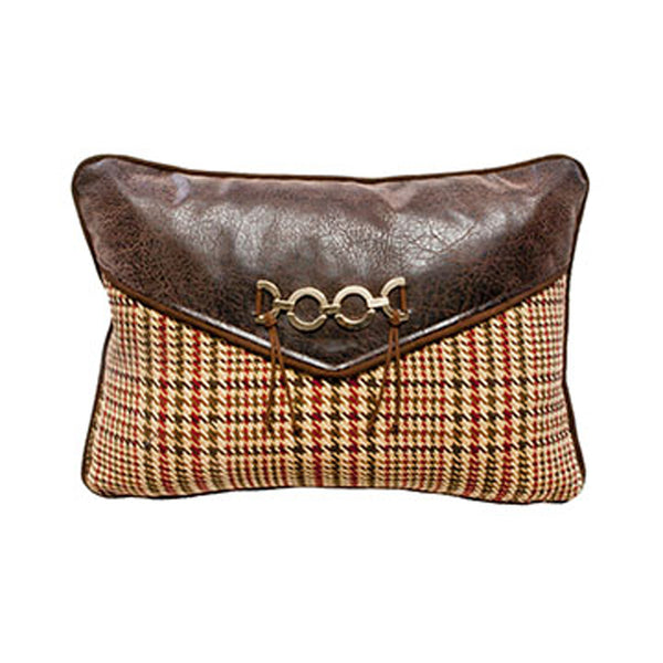 Houndstooth Plaid Envelope Pillow