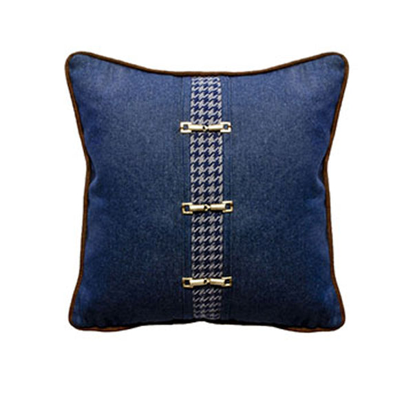 Denim Front Pillow