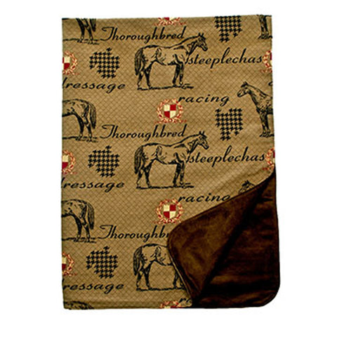 Thoroughbred Foxhunt Throw, Lined