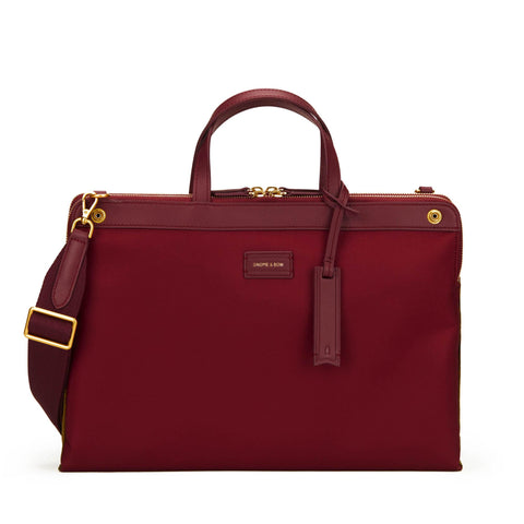 Milton Briefcase (Reversible) in Wine/Olive