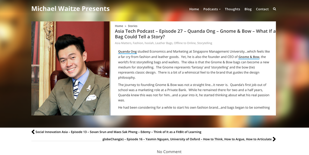 Asia Tech Podcast_Gnome & Bow_Storytelling Leather Bags and Wallets_1
