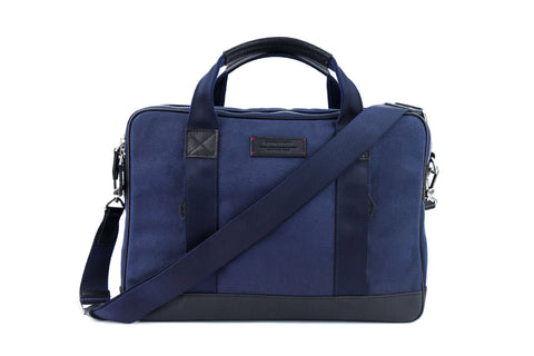 Aspen Slim Briefcase in Space Blue