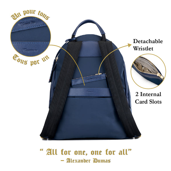 Athos Laptop Backpack (Leather) Women Personalised Black Blue Taupe Laptop Bag Pouch Gold Zipper