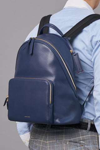 Athos Laptop Backpack (Nylon Leather)-Blue Work Men- Gnome & Bow The Three Musketeer Personalised Gifts