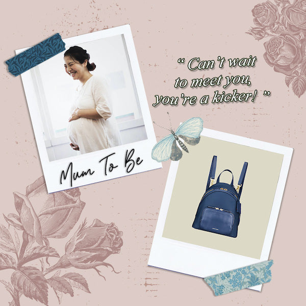 Athos Small Crossbody Backpack (Nylon Leather) Storybook Inspired Designer Bags for Mum to be Mother's Day Gift Guide
