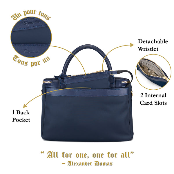 D'ryna Crossbody Handbag (Nylon Leather) Women Leather Personalised Black Blue Taupe Big Pouch Water Resistant