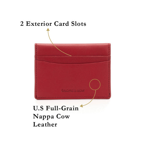 Envelope Coin and Card Holder (RFID) Personalised Women Leather Wallet Black Blue Taupe Beige Pink Red Slim Travel
