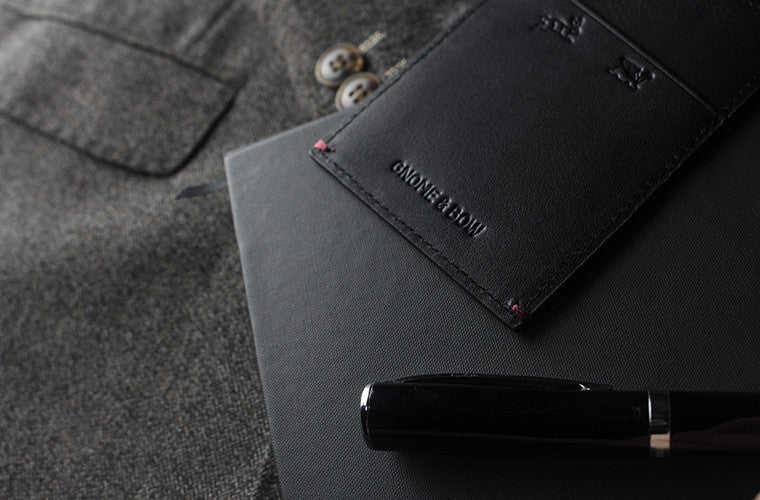 The Fir Cardsleeve in Onyx Black keeps you lean and mean as a full-grain leather namecard holder executed in the simplest form.