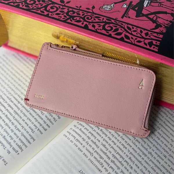 Gillian Zip Coin Pouch Card Holder (RFID) Leather Personalised
