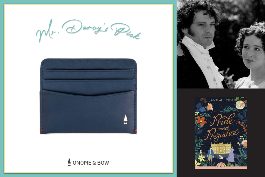 Gnome & Bow Storybook Inspired Personalised Leather Goods-Fathers-Day-Gifts-Austen Slim Cash Cardholder-Mr Darcy