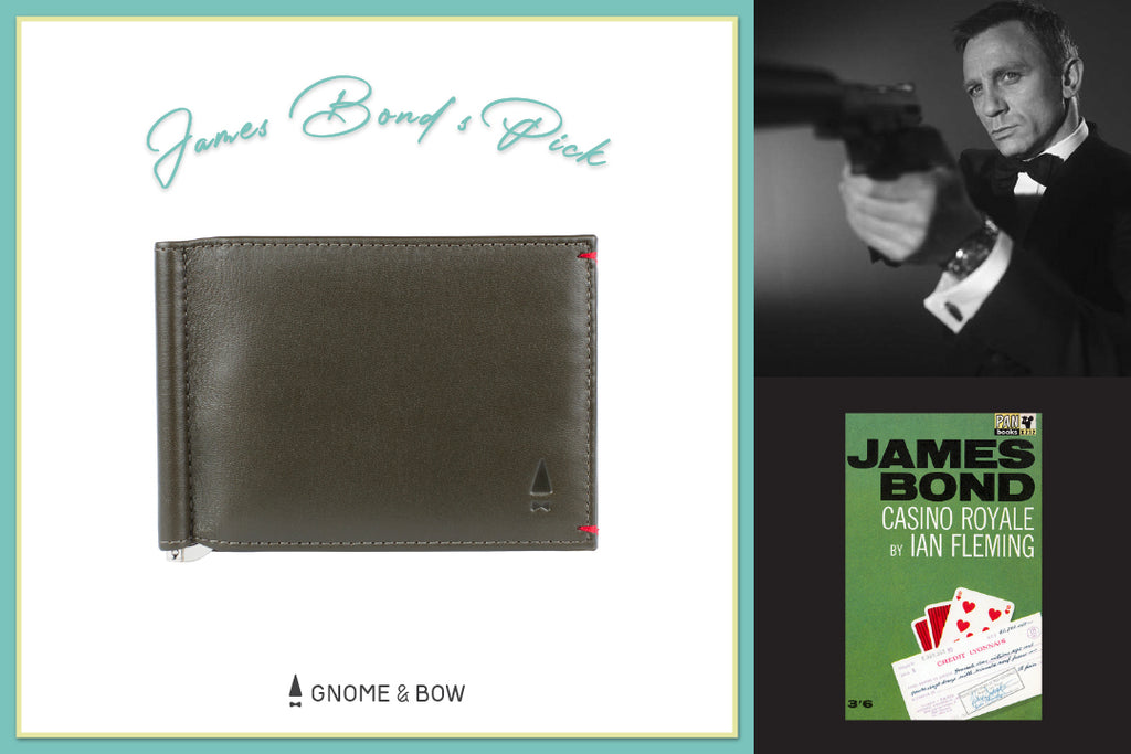 Gnome & Bow Storybook Inspired Personalised Leather Goods-Fathers-Day-Gifts-Bond Money Clip Billfold-James Bond