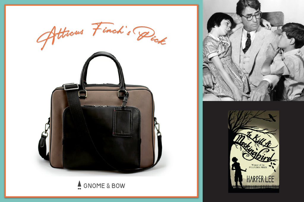 Gnome & Bow Storybook Inspired Personalised Leather Goods-Fathers-Day-Gifts-Porthos Briefcase-Atticus Finch