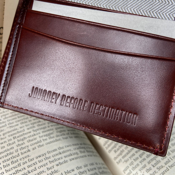 Griffin Small Coin Slot Bifold Wallet RFID Oxblood