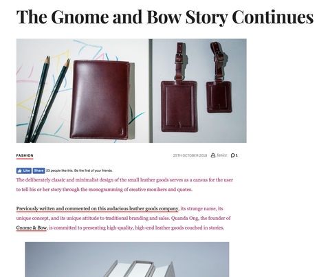 Janiqueel_Gnome & Bow_Storytelling Leather Bags and Wallets_1