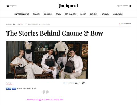 Janiqueel _Gnome & Bow_Storytelling Leather Bags and Wallets_1