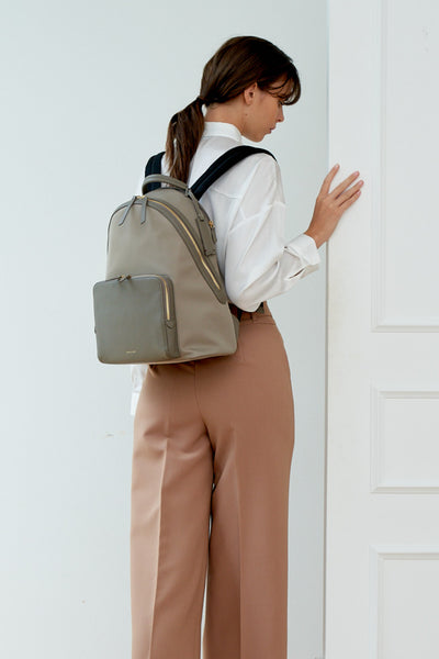 Athos Laptop Backpack (Nylon Leather)-Work Women- Gnome & Bow The Three Musketeer Personalised Gifts