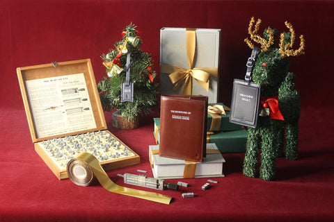 Personalised Xmas Gifts Gnome & Bow Leather Goods