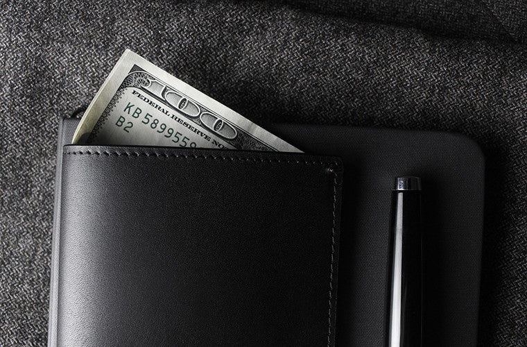 The full-grain leather Pine Card Wallet in Onyx Black is meant to steal the show if the regular billfold is not your choice of keep your cash and cards