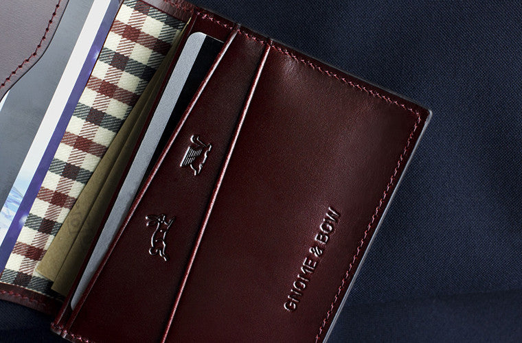 The full-grain leather Pine Card Wallet in Oxblood is meant to steal the show if the regular billfold is not your choice of keep your cash and cards