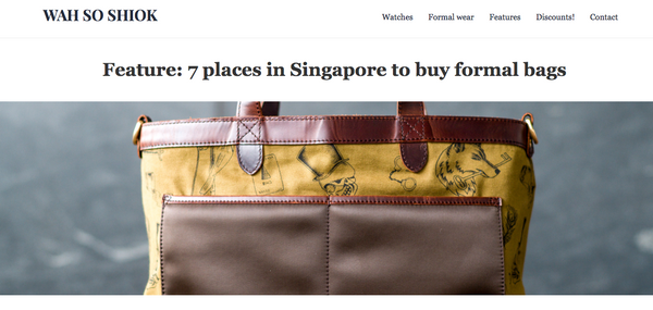Singapore Storytelling Leather Formal Bags and Wallets