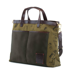 Strand_Nylon Leather_Briefcase_Pdt_Green_8