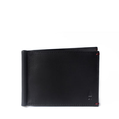 Regardless of cash or cards, the Regal full-grain leather money clip wallet in Onyx Black embraces them all, exuding a panache that speaks of your confidence in taste.