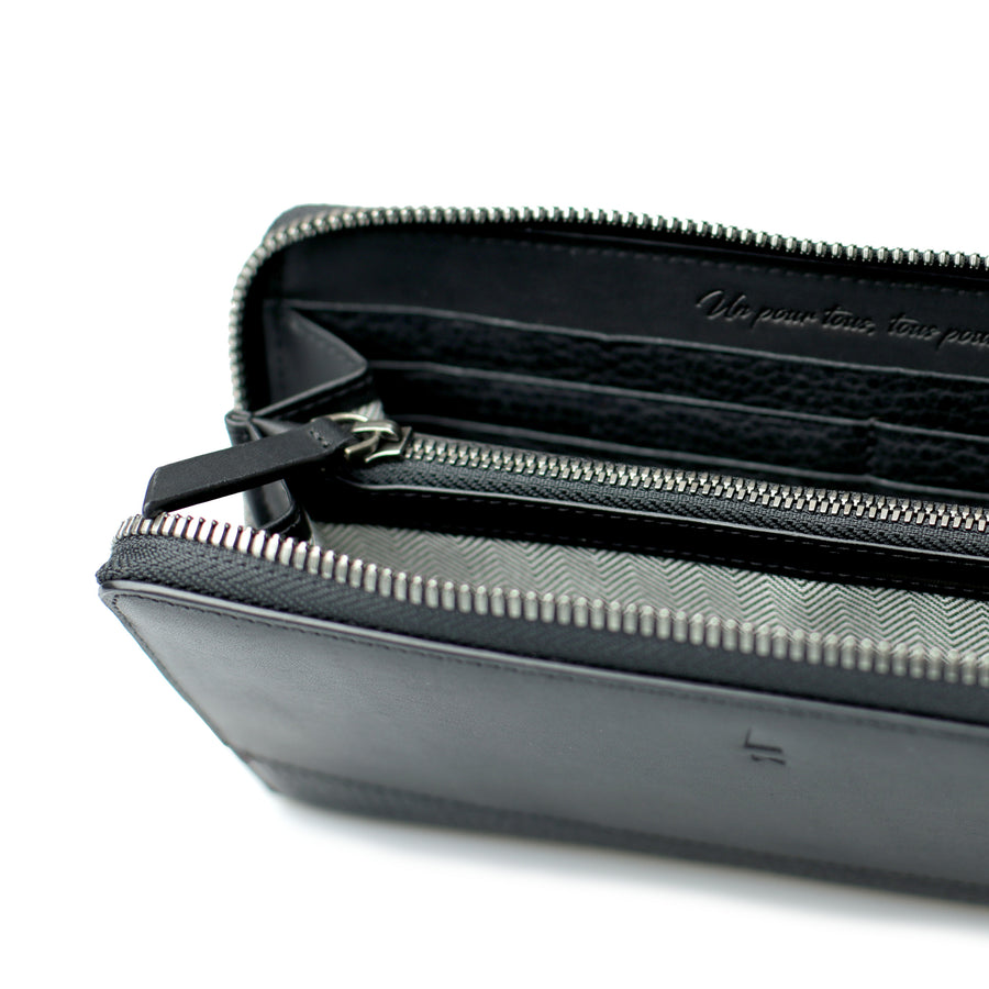 Sabine Accordion Zip Wallet | Black