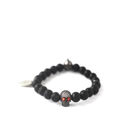 The Helmskull zirconia stones bracelet in Obsidian Black offers two styles in one, allowing you to switch it up depending on your mood or the occasion.
