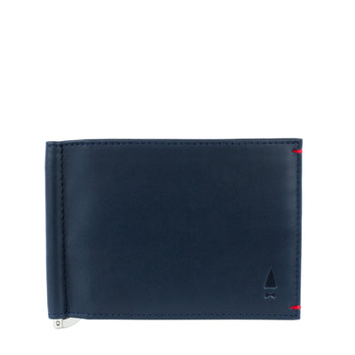 Marrying the classic look of a Midnight Blue full-grain leather billfold and the sleek profile of the money clip, the Bond exudes a confidence and charisma that James himself would approve of.