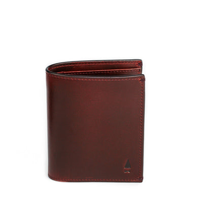 The full-grain leather Pine Card Wallet in Oxlblood is meant to steal the show if the regular billfold is not your choice of keep your cash and cardsThe full-grain leather Pine Card Wallet in Oxblood is meant to steal the show if the regular billfold is not your choice of keep your cash and cards
