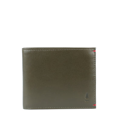 The Regent is the quintessential full-grain leather billfold crafted for the modern gentleman, with a touch of Forest Green hue and a contrasting alter ego colour inside.