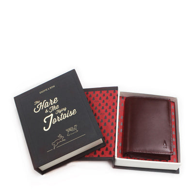 Our signature full-grain leather Birch Cardholder, in a beautiful shade of Oxblood, is designed with card sleeves and a main pocket to store a plethora of cards.