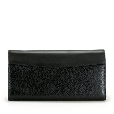 The leather Milady continental wallet presents a contemporary exterior framed by clean lines and fine details, a classic for the modern lady seeking style and function. Limited Quantities.