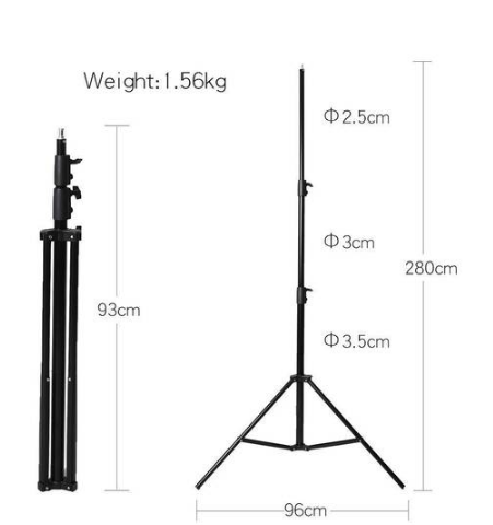 2.8m Heavy Duty Light Stand