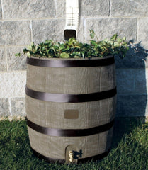 2-in-1 Rain Barrel Planter - 24 x 24 x 28