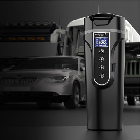 Portable Car Thermos Bottle Smart Touch Digital Display Insulated Cup Home Traveling Heating Cup Water Bottle